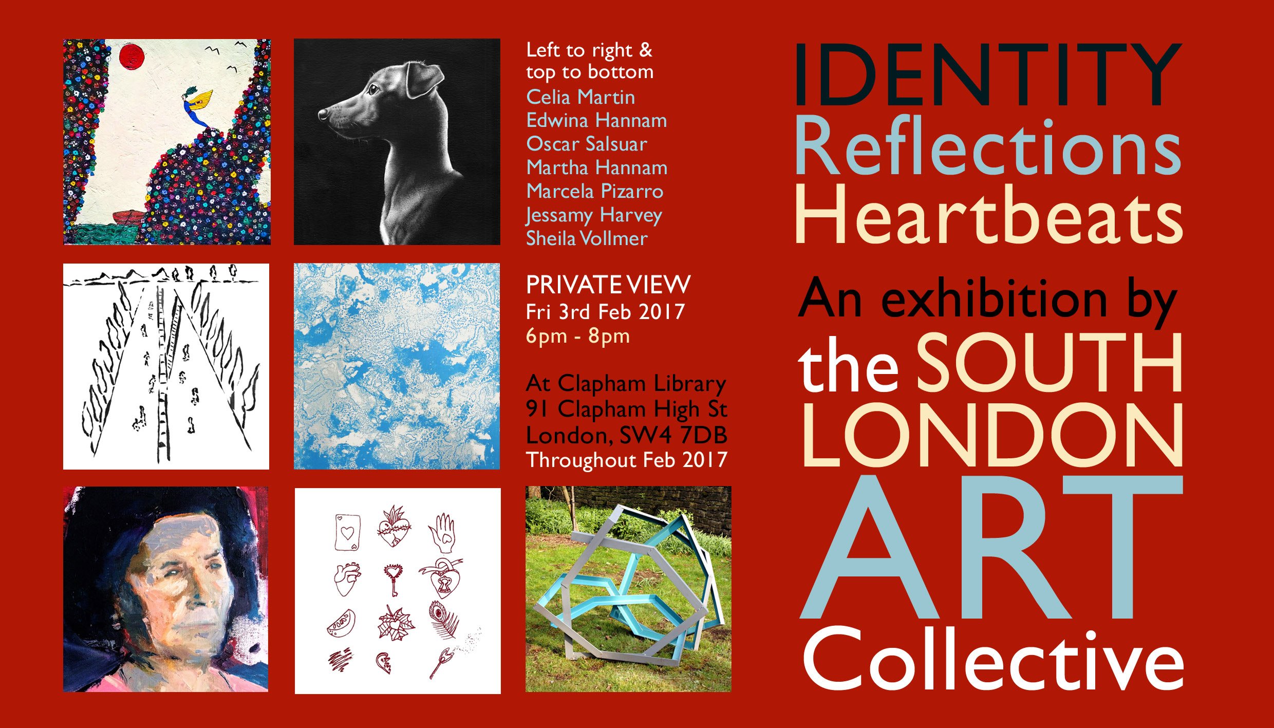Identity, Reflections, Heartbeats - An exhibition by the South London Art Collective.