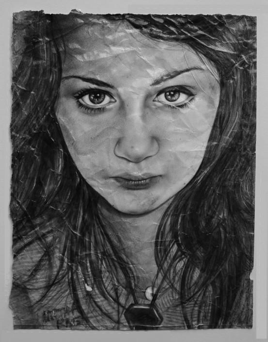 Martha Rae, pencil
