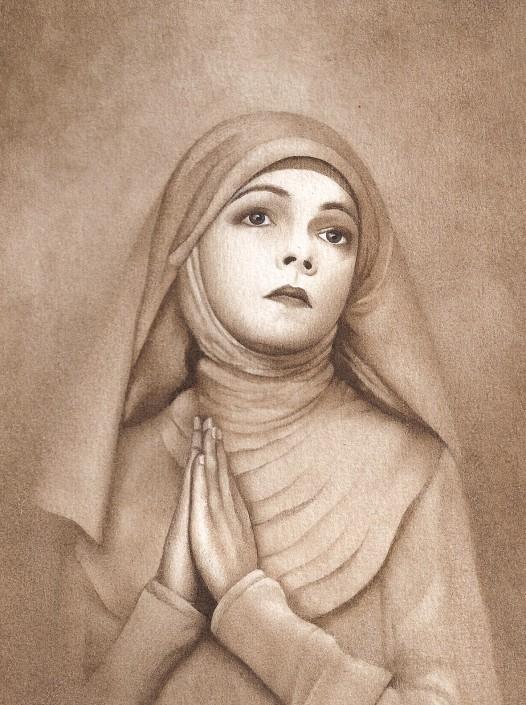 Nun. Watercolour on paper. 2000