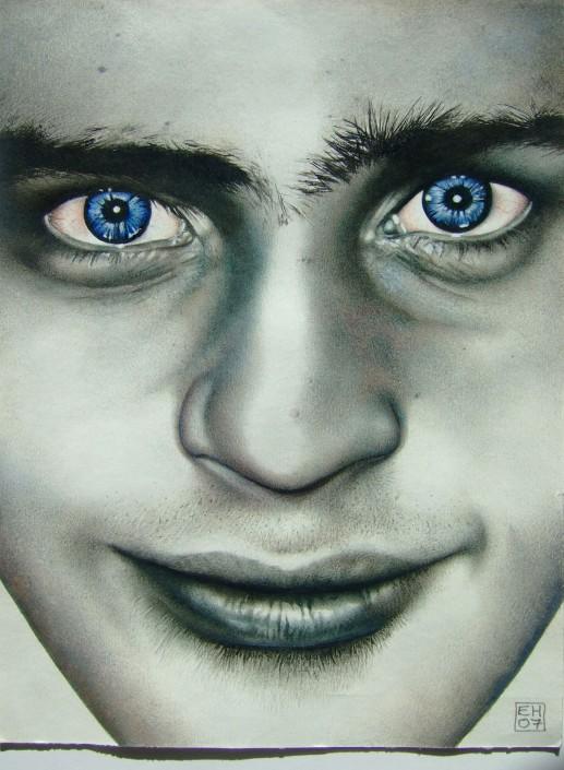 Ol' blue eyes. Watercolour on paper. 2009