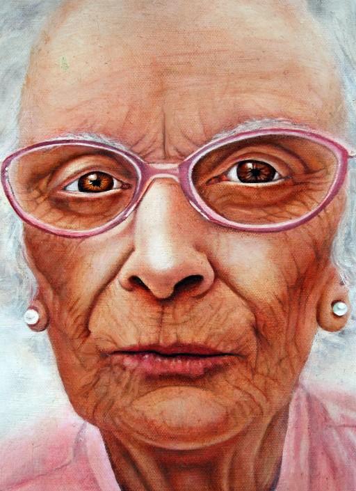 Martha's grandmother. Oil on Canvas. 2010