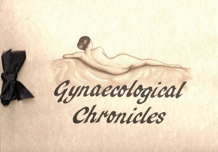 Page title for Channel 4 programme 'Gynaecological Chronicles', watercolour