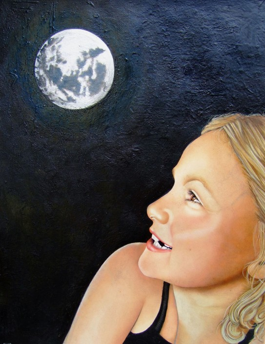 Martha Moon. Acrylic on board. 2004