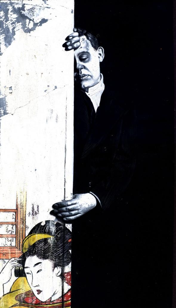 Charles Laughton. Acrylic on board 2008