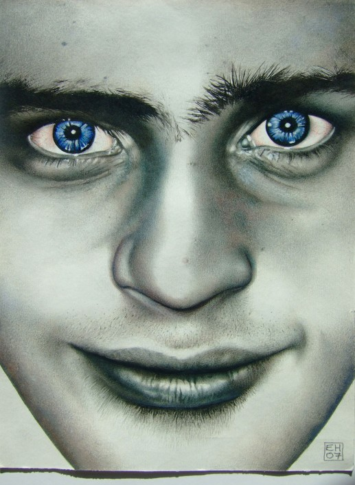 Ol' blue eyes. Watercolour on paper. 2009