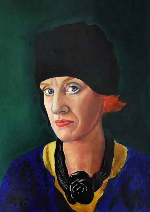 Ed self. Self portrait A2. Acrylic.