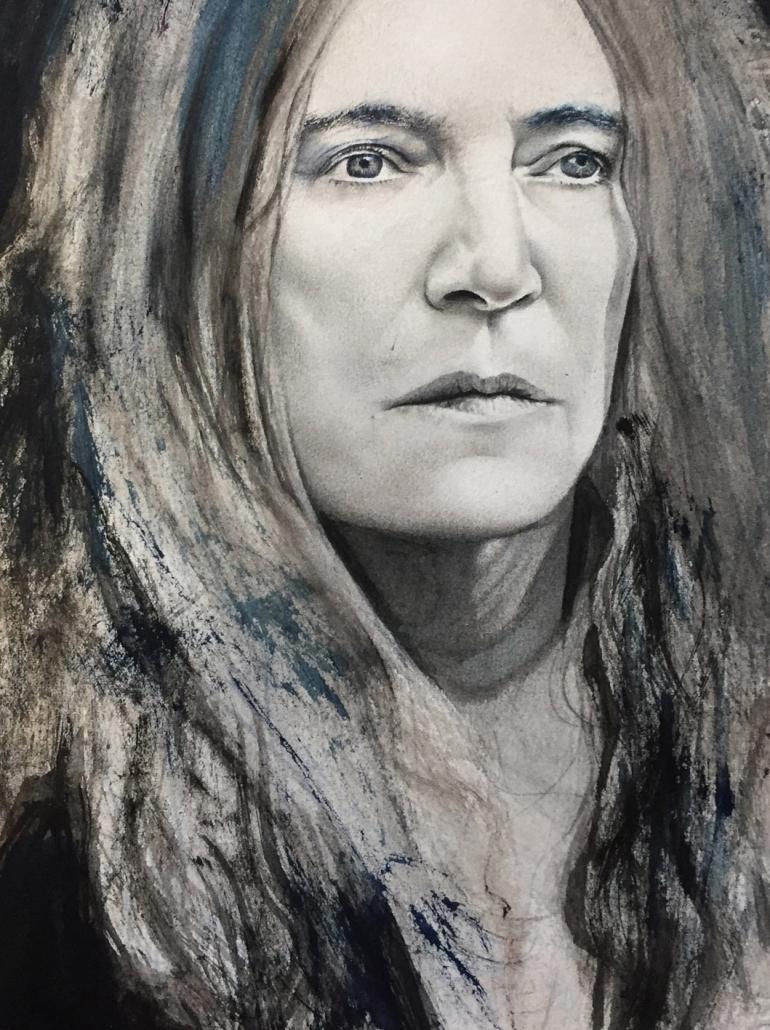 Patti Smith. A4 Mixed media.
